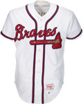 Baseball Collectibles:Uniforms, 1997 Tom Glavine Game Worn & Signed Atlanta Braves Jersey with Player Provenance. . ...