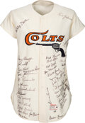 Baseball Collectibles:Uniforms, 1963 Jim Umbricht Game Worn Houston Colt 45's Jersey Signed by the Entire Team. . ...