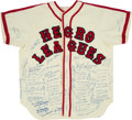 Baseball Collectibles:Uniforms, 1990's Negro League Greats Multi-Signed Jersey with Over 100 Autographs Including Mays, Aaron, Banks. . ...