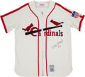 Baseball Collectibles:Uniforms, 2000's Stan Musial Signed Flannel Jersey.. ...