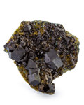 Minerals:Small Cabinet, Andradite Garnet. Afghanistan. 3.23 x 3.26 x 2.03 inches (8.20 x 8.28 x 5.15 cm). ...