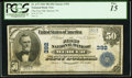 National Bank Notes:Pennsylvania, Mercer, PA - $50 1902 Plain Back Fr. 675 The First NB Ch. # 392....