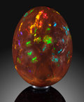 "Lapidary Art:Eggs and Spheres, ""Chocolate"" Opal Egg. Ethiopia. ..."