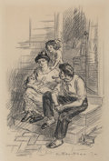 Fine Art - Work on Paper, John French Sloan (American, 1871-1951). Da Thief, 1912. Inkand pencil on paper. 16-3/4 x 11-1/4 inches (42.5 x 28.6 cm...