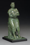 Fine Art - Sculpture, American, Harry Herman Wickey (American, 1892-1968). Eleventh AvenueMadonna. Bronze with green patina. 8-3/4 inches (22.2 cm)hig...