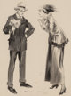 Everett Shinn (American, 1876-1953) The Measure of a Man, Everybody's Magazine interior illustration, 1917 Charcoal an...