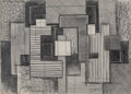 Fine Art - Work on Paper:Drawing, Irene Rice Pereira (American, 1907-1971). AbstractComposition, 1939. Pencil on paper. 10-7/8 x 14-3/4 inches(27.6 x 37...