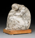 Fine Art - Sculpture, American, Cleo Hartwig (American, 1911-1988). Seated Woman, circa1940. Marble. 10-1/2 inches (26.7 cm) high on a 1-1/4 inches (3....
