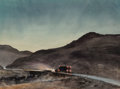 Works on Paper, Peter Hurd (American, 1904-1984). Corrienda a California, circa 1960. Watercolor on paper. 21-3/8 x 29-1/4 inches (54.3 ... (Total: 2 Items)