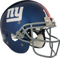 Football Collectibles:Helmets, 2009 Eli Manning Game Issued New York Giants Backup Helmet....