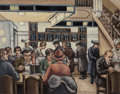 Fine Art - Painting, American, Max Arthur Cohn (American, 1903-1998). Belmore Cafeteria,1937. Oil on canvas. 22 x 28 inches (55.9 x 71.1 cm). Signed l...