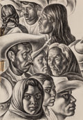 Fine Art - Work on Paper:Drawing, Howard Norton Cook (American, 1901-1980). My Taxco Friends,1932. Pencil on paper. 22-7/8 x 15-7/8 inches (58.1 x 40.3 c...