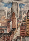 Fine Art - Work on Paper:Watercolor, Russell Cowles (American, 1887-1979). Vertical World.Watercolor on paper. 29-1/4 x 20-1/2 inches (74.3 x 52.1 cm)(sigh...