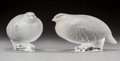 Art Glass:Lalique, Two Lalique Frosted Glass Partridge Birds. Post-1945.Engraved Lalique, France. Ht. 3 in.. ... (Total: 2 Items)