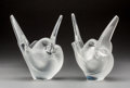 Art Glass:Lalique, Two Lalique Frosted Glass Sylvie Vases. Post-1945. EngravedLalique, France. Ht. 8-1/4 in.. ... (Total: 4 Items)