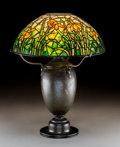 Lighting:Lamps, Tiffany Studios Leaded Glass and Bronze Daffodil Table Lamp. Circa 1915. Stamped TIFFANY STUDIOS, NEW YORK. Ht. ... (Total: 2 Items)