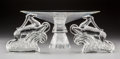 Art Glass:Steuben, Pair of Steuben Glass Gazelle Bookends and Center Bowl. Late20th century. Etched Steuben; (various). Ht. 6-... (Total: 3Items)