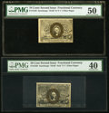 Fractional Currency:Second Issue, Fr. 1249 10¢ Second Issue PMG About Uncirculated 50. Fr. 1322 50¢ Second Issue PMG Extremely Fine 40.. ... (Total: 2 notes)