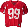 Football Collectibles:Uniforms, Circa 2010 JJ Watt Practice Worn Wisconsin Badgers Jersey Sourced from Team with Photo Reference. . ...