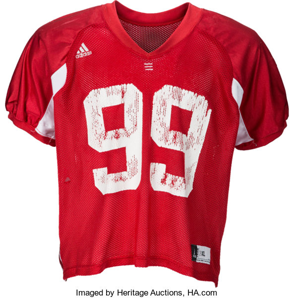 best authentic a04e9 2c4e1 Circa 2010 JJ Watt Practice Worn Wisconsin Badgers Jersey ...