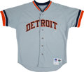 Baseball Collectibles:Uniforms, 1993 Larry Herndon Detroit Tigers Coach's Jersey. . ...