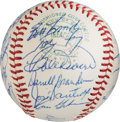 Autographs:Baseballs, 1967 Boston Red Sox Team Signed Baseball.. ...