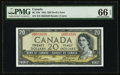 Canadian Currency, BC-33b $20 1954 Devil's Face. ...