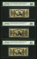 Fractional Currency:Third Issue, Five Third Issue 50¢ Justice Fractional Notes.. ... (Total: 5 notes)