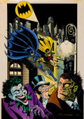 Original Comic Art:Miscellaneous, Bill Wray Batman Color Production Art Original Art (DCComics, 1987)....
