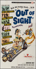 "Movie Posters:Rock and Roll, Out of Sight (Universal, 1966). Three Sheet (41"" X 79"") JosephSmith Artwork. Rock and Roll.. ..."