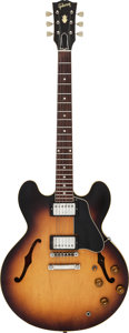 Musical Instruments:Electric Guitars, 1960 Gibson ES-335 Sunburst Semi-Hollow Body Electric Guitar, Serial # A33414....