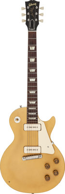 1954 Gibson Les Paul Gold Solid Body Electric Guitar, Serial # 4 5074
