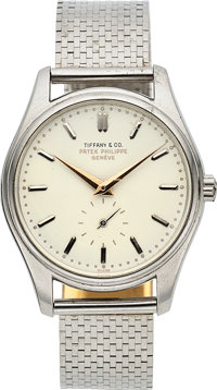 "Patek Philippe, Ref. 2526P, Highly Important And Rare Calatrava with First Series Enamel Dial, Retailed by ""Tiffany..."