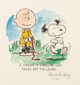 Charles Schulz Peanuts featuring Charlie Brown and Snoopy Signed Limited Edition Lithograph Print #75/500 (c. 1990... (1...