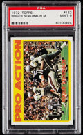 Football Cards:Singles (1970-Now), 1972 Topps Roger Staubach IA #122 PSA Mint 9....