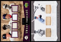 Baseball Cards:Singles (1970-Now), 2000's Upper Deck & Panini Baseball Legends Game Used Jersey or Bat Sample Cards (2). ...