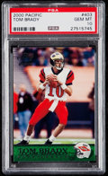 Football Cards:Singles (1970-Now), 2000 Pacific Tom Brady #403 PSA Gem Mint 10....