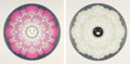 Fine Art - Work on Paper:Print, Takashi Murakami (b. 1962). Lotus Flower (Pink and White)(two works), 2010. Offset lithographs in colors on satin white...(Total: 2 Items)