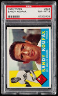 Baseball Cards:Singles (1960-1969), 1960 Topps Sandy Koufax #343 PSA NM-MT 8....