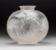 R. Lalique Clear and Frosted Glass Poissons Vase Circa 1921. Molded R. LALIQUE; engraved France M p