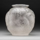 R. Lalique Clear and Frosted Glass Tortues Vase Circa 1926. Impressed R. LALIQUE M p. 432, No. 966. Ht. 10