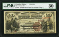 National Bank Notes:Maine, Camden, ME - $20 1882 Brown Back Fr. 501 The Camden NB Ch. # 2311....