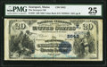 National Bank Notes:Maine, Searsport, ME - $20 1882 Value Back Fr. 581 The Searsport NB Ch. #(N)2642. ...