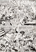 Original Comic Art:Panel Pages, Jack Kirby and Frank Giacoia Captain America #204 Story Page8 Original Art (Marvel, 1976)....