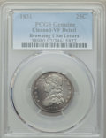 Bust Quarters, 1831 25C Small Letters, B-1, R.3, -- Cleaning -- PCGS Genuine. VF Details. NGC Census: (1/18). PCGS Population: (0/8). VF20...