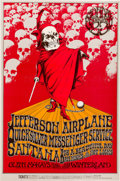 "Music Memorabilia:Posters, Jefferson Airplane ""A Benefit For The Grateful Dead"" Winterland Concert Poster BG-222 (Bill Graham Presents, 1970). Rare...."