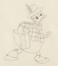 Animation Art:Production Drawing, Donald Duck Animation Drawing (Walt Disney, c. 1960s)....