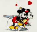 """Animation Art:Seriograph, """"The Skating Lesson"""" Mickey Mouse and Minnie Mouse Serigraph (WaltDisney, 1989)...."""