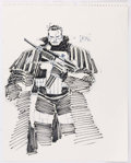 Original Comic Art:Sketches, John Romita Jr. The Punisher Sketch Original Art (1991)....