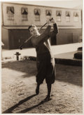 Autographs:Photos, 1920's Bobby Jones Signed Original Oversized Photograph by BertLongworth. . ...
